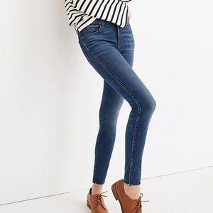 Madewell High Riser Skinny Jeans Raw Hem